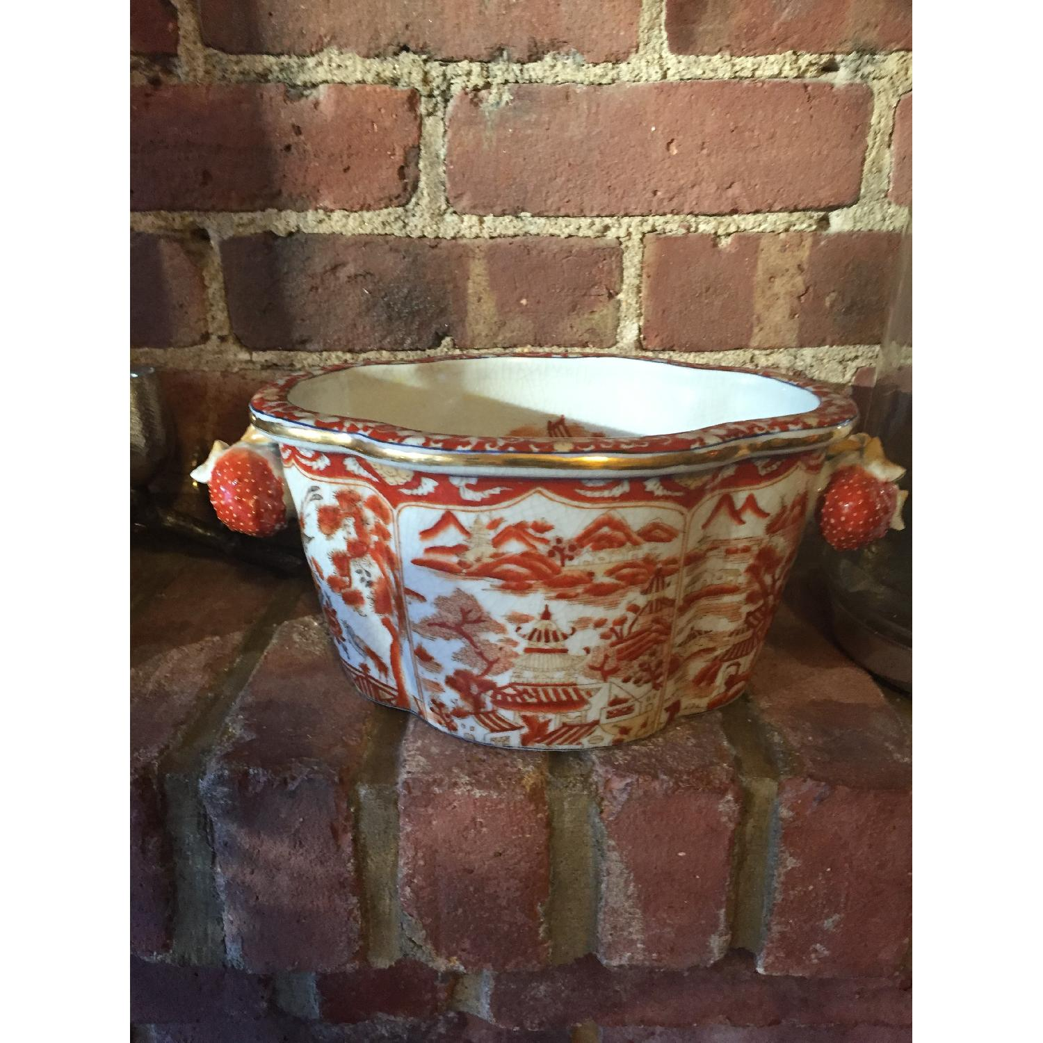 Multi Color Red & Yellow Chinese Planter - image-1