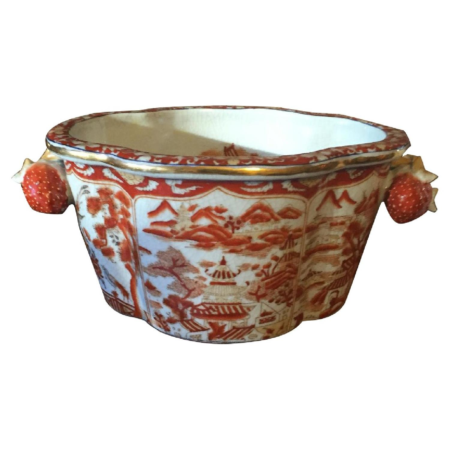Multi Color Red & Yellow Chinese Planter - image-0