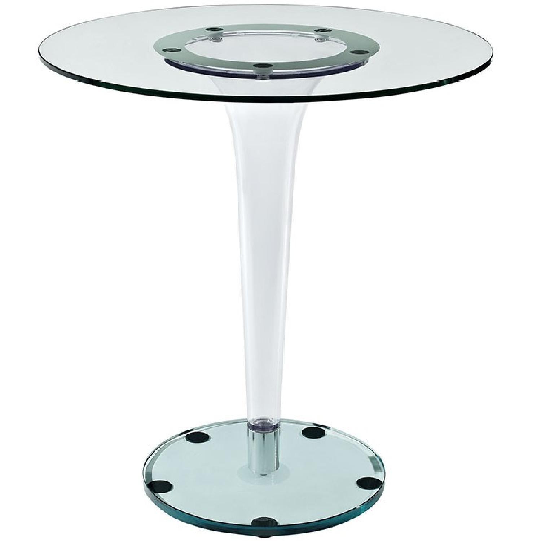 Modway Gossamer Side Table in Clear