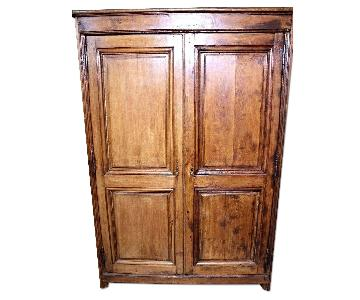 18th Century French Country Oak Armoire