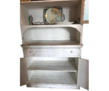 Farmhouse Antique Credenza/China Cabinet