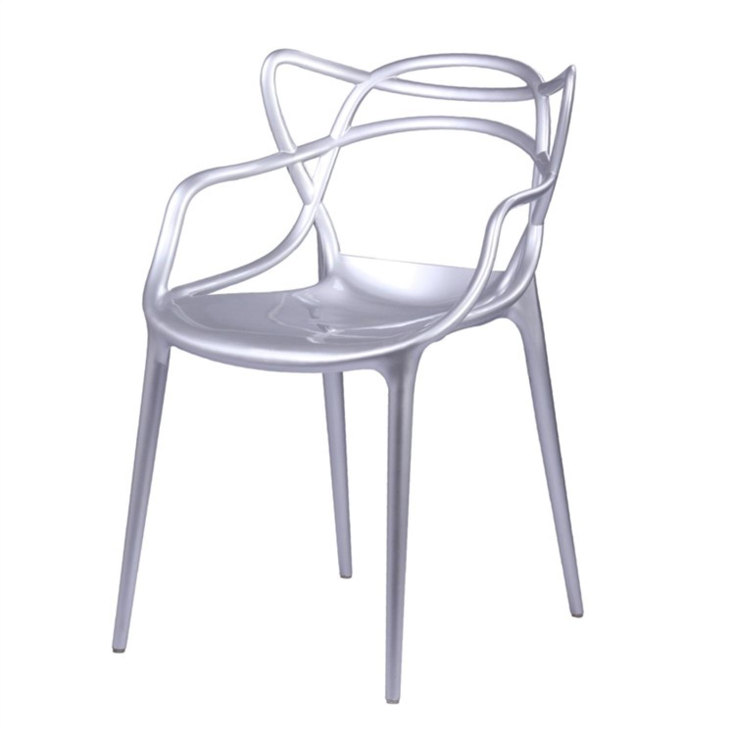 Finemod Brand Name Chair in Silver