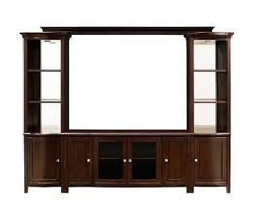 Raymour & Flanigan West End 4-Piece Wall Console w/ Lighting