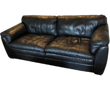 Thomasville Full-Size Leather Sofa