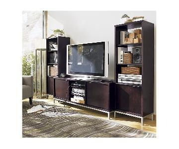 Crate & Barrel Weiden Media Console w/ 2 Towers