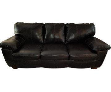 Ashley Faux Leather Sleeper Sofa