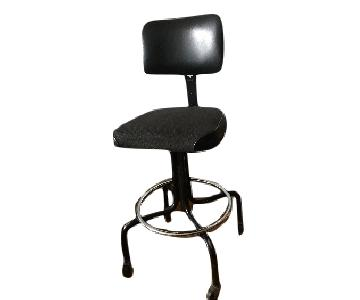 Vintage Industrial Metal Adjustable Swivel Drafting Stool