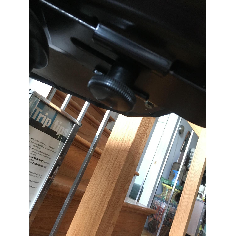 Vintage Industrial Metal Adjustable Swivel Drafting Stool-1