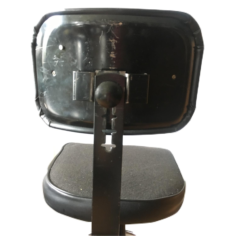 Vintage Industrial Metal Adjustable Swivel Drafting Stool-5