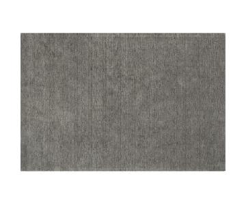 Crate & Barrel Baxter Grey Wool Area Rug