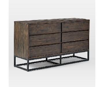 West Elm Logan 6 Drawer Dresser in Smoked Brown