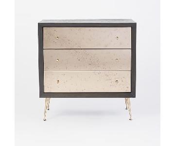 West Elm Celestial 3 Drawer Mirrored Dresser
