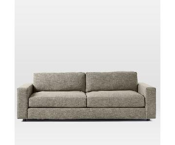 West Elm Urban 2.5 Seater Sofa in Heathered Tweed Charcoal