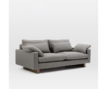 West Elm Harmony Trillium Sofa in Eco Weave Pewter