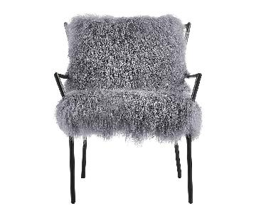 TOV Furniture Lena Grey Sheepskin Accent Chair