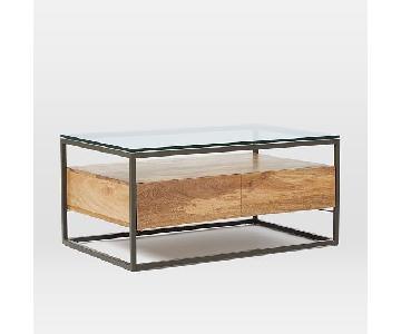 West Box Frame Storage Coffee Table