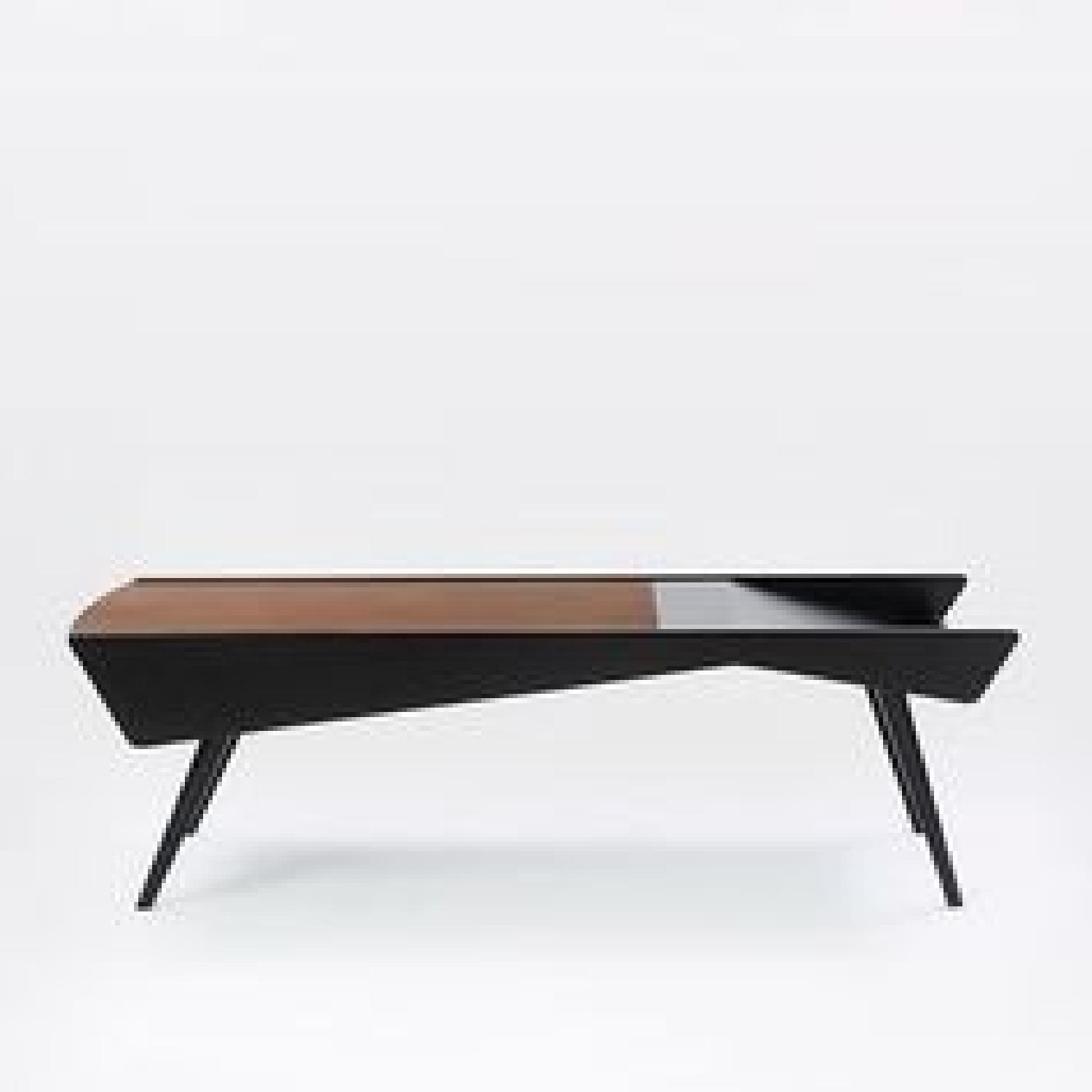 West Elm Salvador Storage Coffee Table in Walnut Black AptDeco