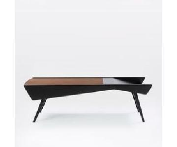 West Elm Salvador Storage Coffee Table in Walnut/Black