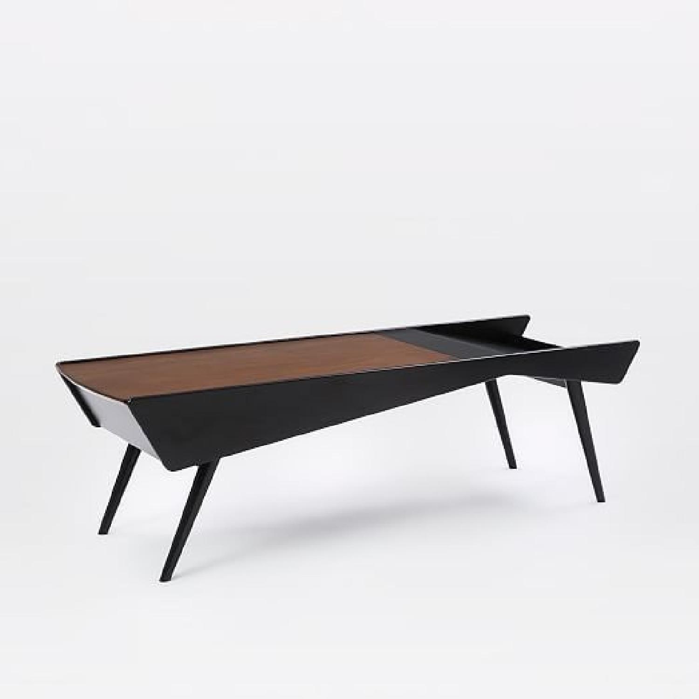 West Elm Salvador Storage Coffee Table in Walnut Black AptDeco