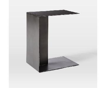 West Elm Hayes End Table in Metal/Hot Rolled Steel