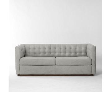 West Elm Rochester Sleeper Sofa in Nordic Weave Arctic