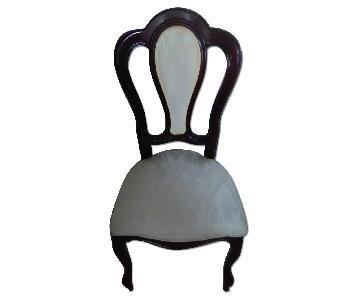 Dark Brown & Cream Dining Chair