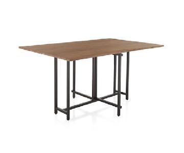 Crate & Barrel Drop Leaf Rectangular Dining Table