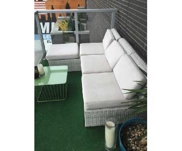 CB2 Ebb Outdoor 3 Piece Sectional Sofa