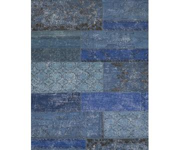 West Elm Limited Edition Distressed Cadiz Wool Rug in Ink