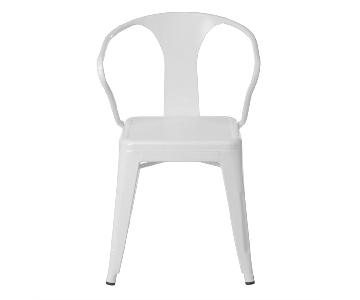 White Tabouret Stacking Chair