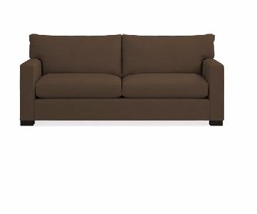 Crate & Barrel Queen Down Filled Sleeper Sofa