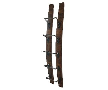Barrel Wood Wine Rack