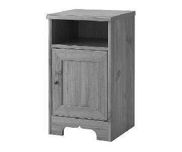 Ikea Aspelund Grey Nightstand