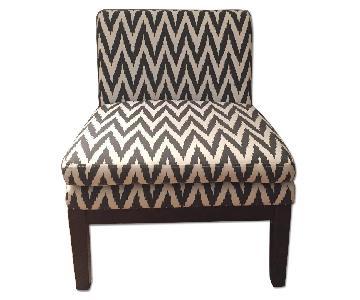 West Elm Navy Slipper Chair