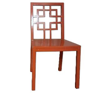 Chinese Lattice Lacquer Chair