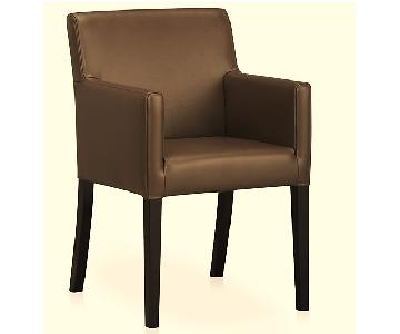 Crate & Barrel Miles Leather Arm Chair