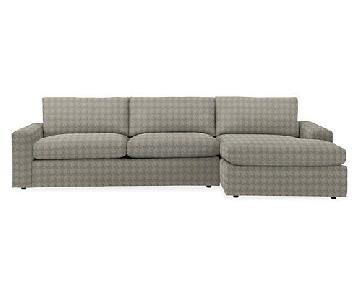 Room & Board Custom Chaise Sectional Sofa