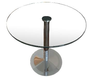 Lazzoni Lily Round Glass Dining Table