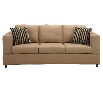 Jennifer Convertibles Kimball Microsuede 3-Seater Sofa