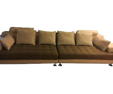 Microsuede 3 Piece Sectional Sofa
