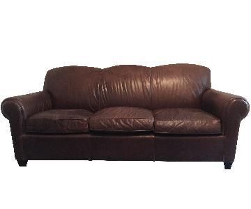 Crate & Barrel 3-Seat Leather Sofa