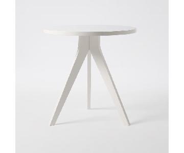 West Elm White Tripod Table