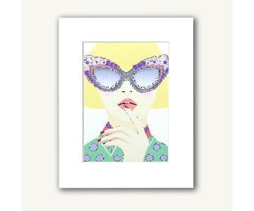Verrier Print w/ White Frame