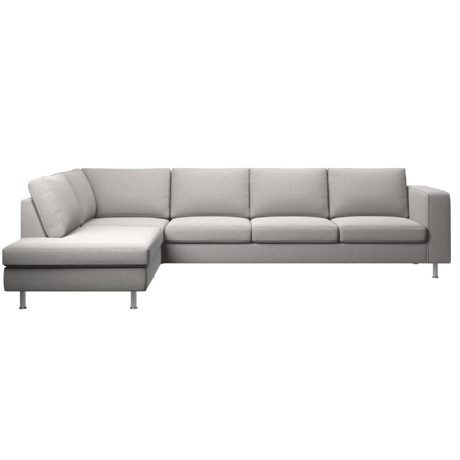 Sectional Couch Light Gray: BoConcept Light Gray L-Shaped Sectional Sofa