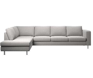 BoConcept Light Gray L-Shaped Sectional Sofa