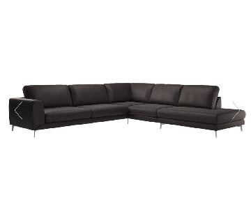 BoConcept Fargo Leather Sectional w/ Chrome Legs