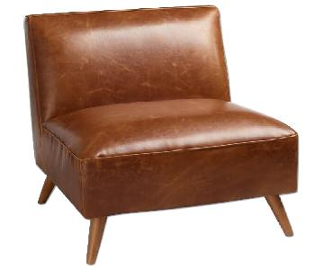 World Market Huxley Cognac Leather Chair