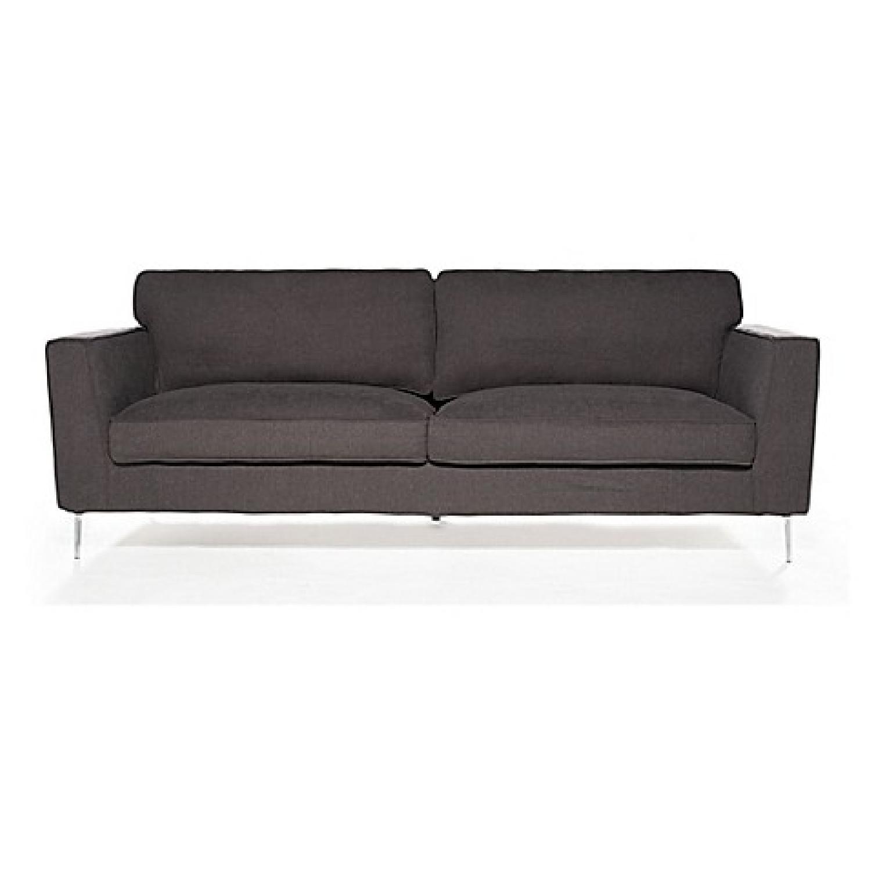 Bed Bath & Beyond Grey Fabric Sofa AptDeco