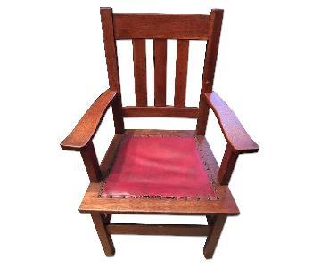 Six Stickley Arts & Crafts Quarter Sawn Oak Dining Chair