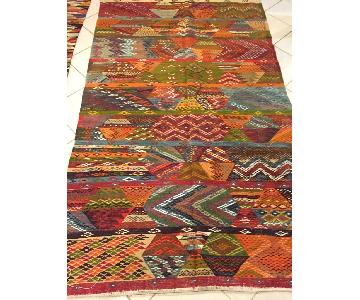 Antique Moroccan Zanafi Tribe Style Area Rug